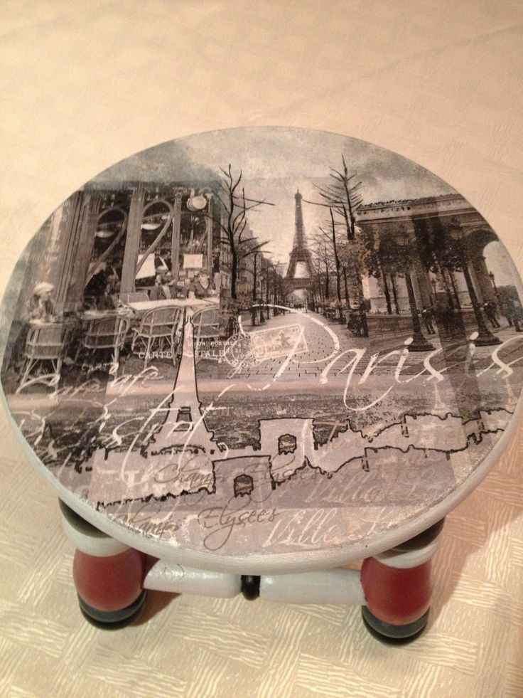 París ulala !!!!!! Pintado a mano y decoupage