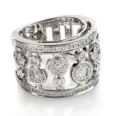 Diamond Pave Set Circle Ring In 18kt White Gold I Would Wear This On The Right Hand