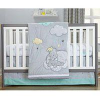 Disney Baby Dumbo Dream Big Grey/Aqua 3 Piece Crib Bedding Set