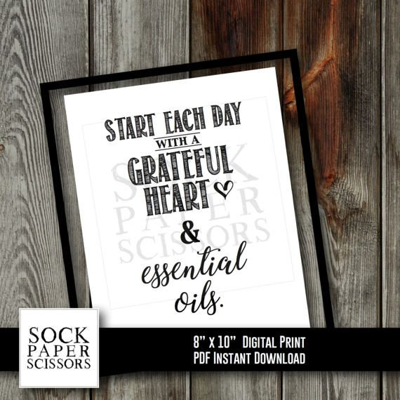 Printable Essential Oil Art Print  Start each day with a