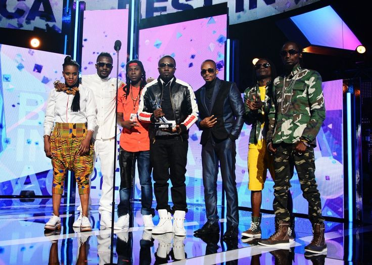 Repping the continent at the BET Awards 2013: Ice Prince,Toya Delazy, Donald, R2Bees and Radio & Weasel.