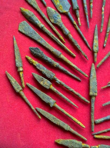 arrowheads , 11-16 century , iron, original, Eastern Europe