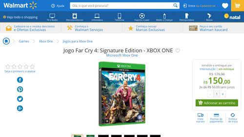 [Wal-Mart] Jogo Far Cry 4: Signature Edition - XBOX ONE 2622205 por R$ 150,00
