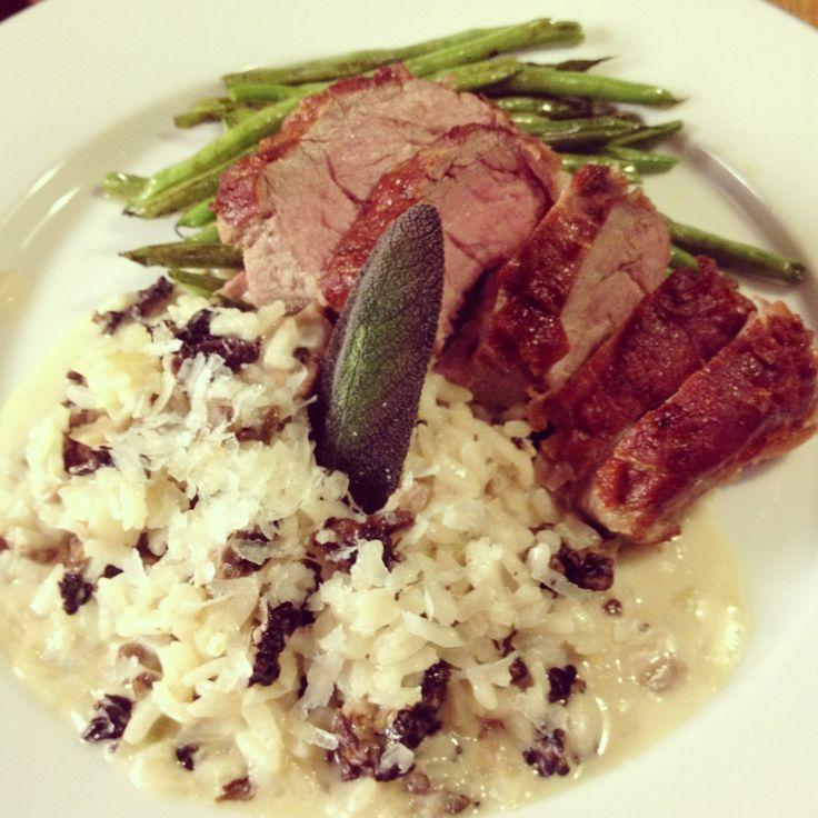 Kulinaari: Prosciuttoon kääritty vasikan sisäfile ja korvasienirisottoa