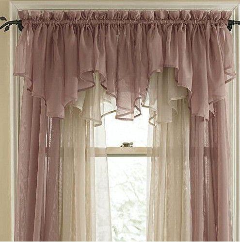 de lujo voile cortina cenefa de doble tringulo de la interseccin