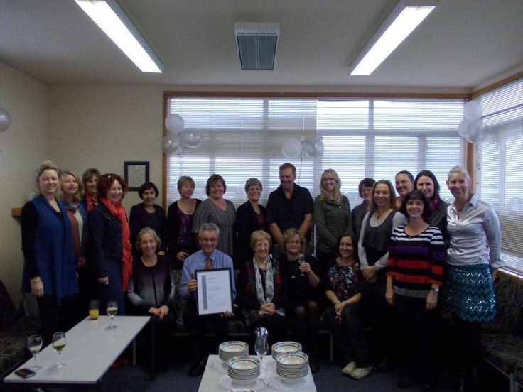 The fantastic team at St John's School Mairangi Bay celebrating their Silver Investors in People accrediation! June 2013