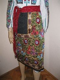Vintage hand woven Romanian wrap skirt from Muscel .  Available at www.greatblouses.com