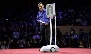 Edward Snowden speaks at Consumer Electronics Show disguised as a robot | Technology | The Guardian