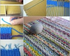 Rug-from-yarn-and-cardboard-features