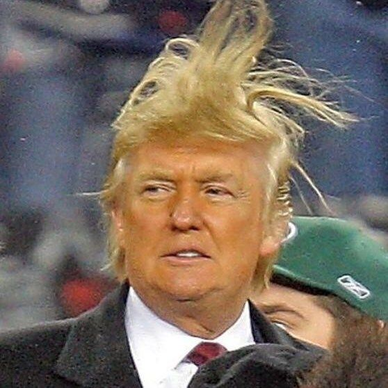 9 Pictures of Donald Trump's Hair Messed Up and Crazy   StyleCaster