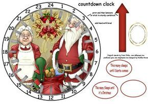 advent countdown clock 7 on Craftsuprint designed by Heather Howes - these are a quick easy advent sleeps until christmas clock ,just follow instructions on sheet there are a lot of different ones so the kids can have a choicei am also working on birthday/wedding countdown too - Now available for download!
