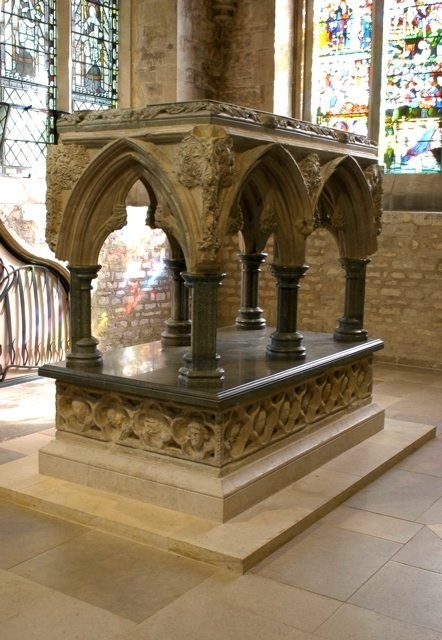 Shrine inside Christ Church Cathedral at Oxford University.