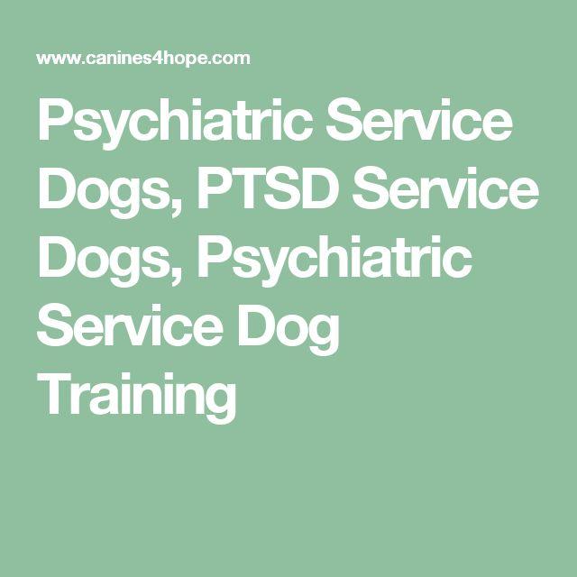 Psychiatric Service Dogs, PTSD Service Dogs, Psychiatric Service Dog Training