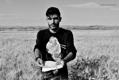 "Amjad is one of the talented young artists and scientists who remain hidden behind the label ""refugee"", forgotten in the margins of ""civilized"" Europe."
