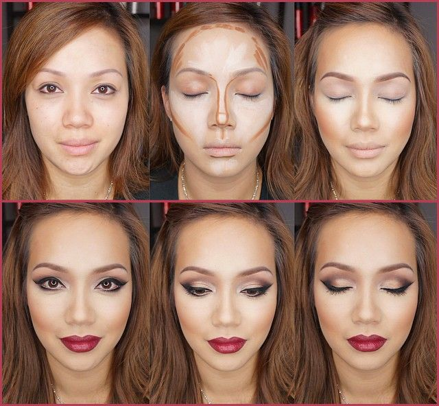 wash your face with cold water and apply moisturizing cream Then apply protection for your pores Then start to highlight the places that need light glow Use concealer,which is two shades lighter than your skin complexion Then apply dark concealer – two shades darker than your skin complexion ...