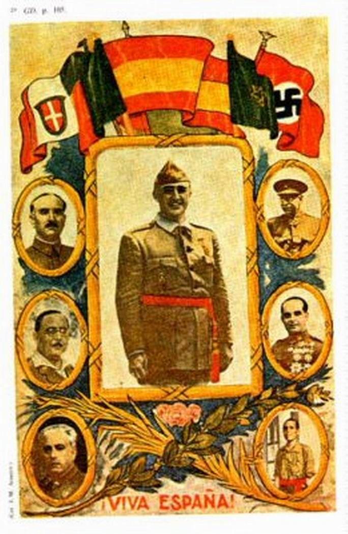 Fascista propaganda poster | Spanish civil war 1936/39 #Afiches @deFharo