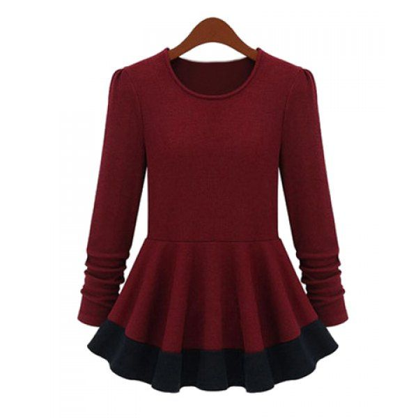 used purses Stylish Round Neck Long Sleeve Color Block Women   s Knitwear Knitwear Sweater Cardigan and Sleeve
