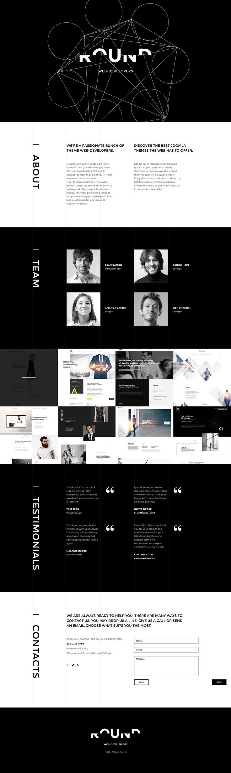 Web Development Responsive Landing Page Template #57827