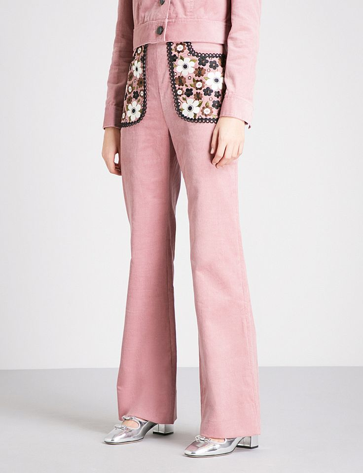 L'ORLA Florence wide-leg high-rise cord trousers