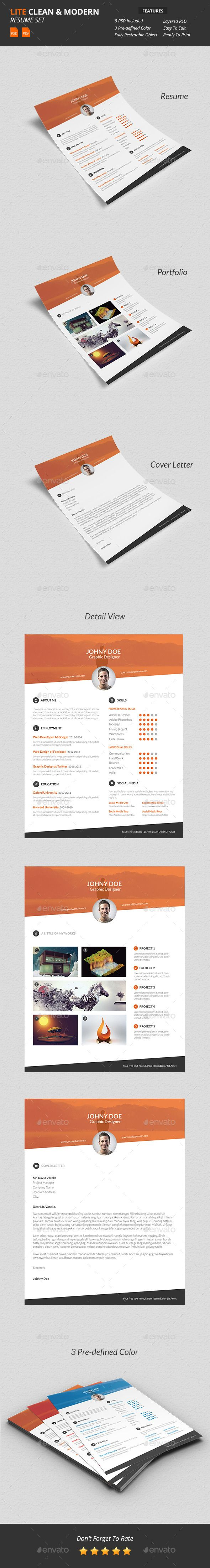 Lite - Clean & Modern Resume Template