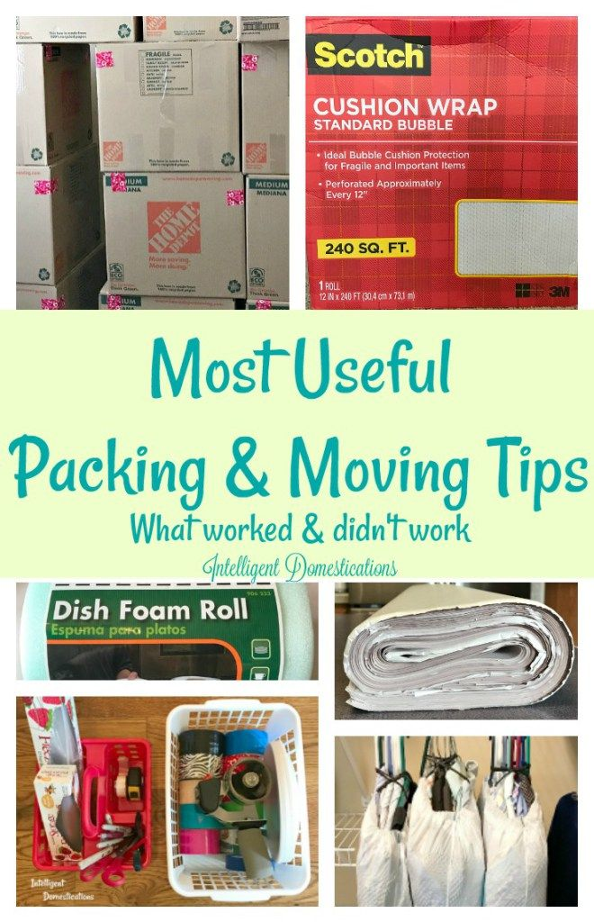 Most Useful Packing and Moving Tips. What worked and what didn't for us when we moved after 17 years in the same home. Moving tips. Packing to move tips. #packing #downsizing #unpacking #organized #hacks #storage #boxes #withmovers #closet