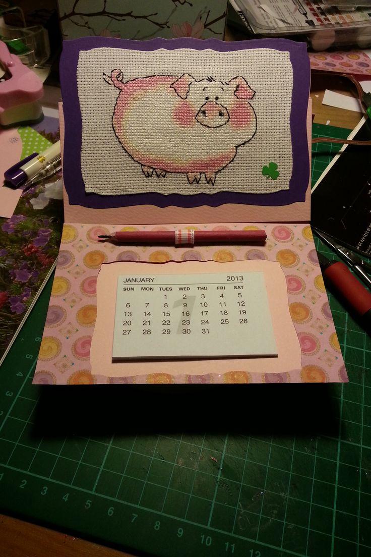 Handmade Calendar With Photos : Best images about calendar cards on pinterest easel