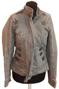 Dámský béžovošedý riflový kabát zn. Miss Selfridge