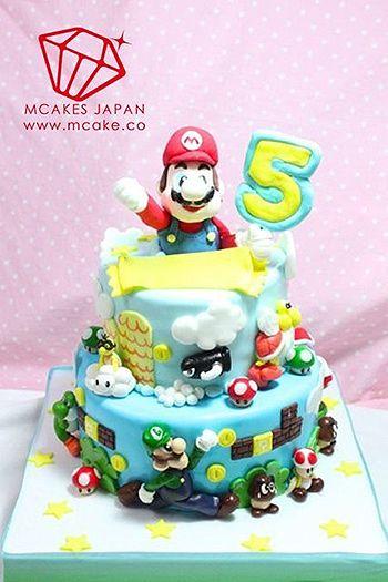 マリオをテーマにしたスペシャルケーキ #cake #birthday #誕生日ケーキ #バースデーケーキ