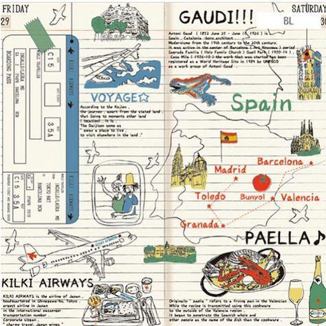 旅する雑貨店CAFE BON VOYAGEです✈︎ 大判のハンカチ「トラベルダイアリー」が入荷しました✨ぱっと見、手帳風が楽しいのです。 「旅に出たい♪」そんな気持ちにさせてくれるハンカチ。スペインへの旅の、楽しい旅日記風のデザインになっています。飛行機に航空券、パエリア、ガウディと様々モチーフが詰まったハンカチです。 包んだり、座る時にひいたり、目印に結んだりと、旅先で大判のハンカチを持っていると、何かと便利なんですよねー。 ▶︎商品の詳細はプロフィールのリンクからご覧下さい! #エアライン #airline #airport #コラージュ #インテリア  #文房具 #stationery #ステーショナリー #zakka #雑貨 #新入荷 #再入荷 #new #新品上市 #スペイン #バルセロナ #Spain #Barcelona #ガウディ