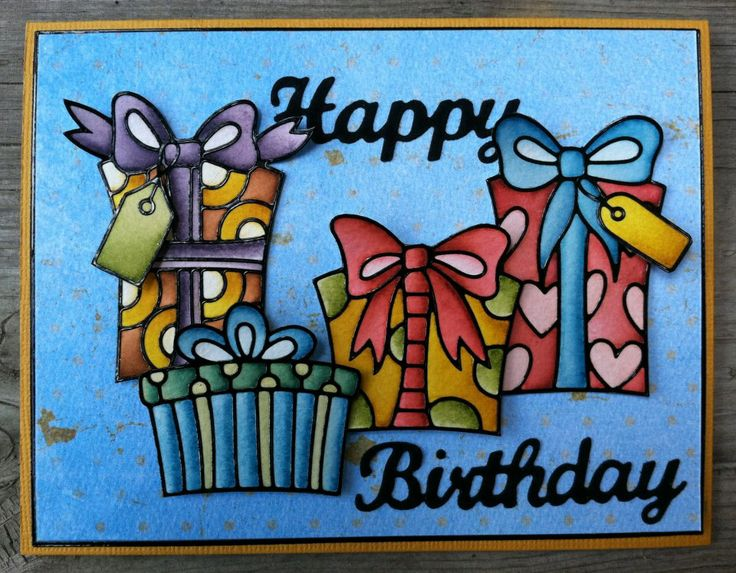 Love the rich color tones in this Elizabeth Craft Designs cards featuring their Peel Off stickers and Happy Birthday die.