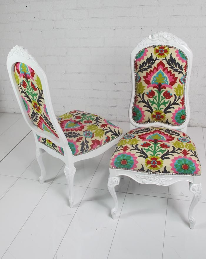 1000 images about vintage floral dining chair – Floral Dining Chairs