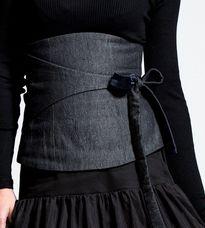 obi belt < inspires me to maked obi type belt to wear with a black marimekko tunic I have.