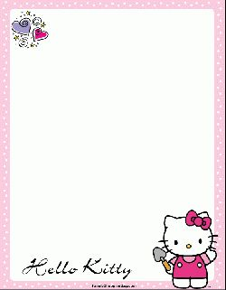 Hello Kitty Gardening, Stationery, Stationery - Free Printable Ideas from Family Shoppingbag.com
