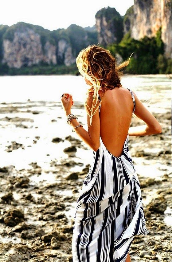 Backless Maxi Dress. So wish I had embraced my youthful body when I had it. This is adorable.