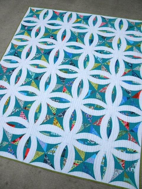 "Sublime ""Metro Lattice"" quilt by Jenny Pedigo. Love that this is a reverse of a traditional quilt pattern."
