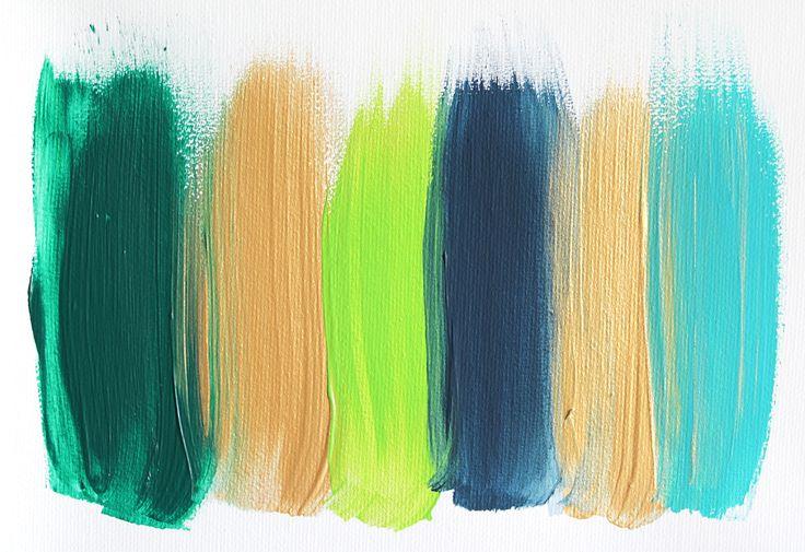 Colors 119 - an original painting by Jen Ramos at Cocoa & Hearts