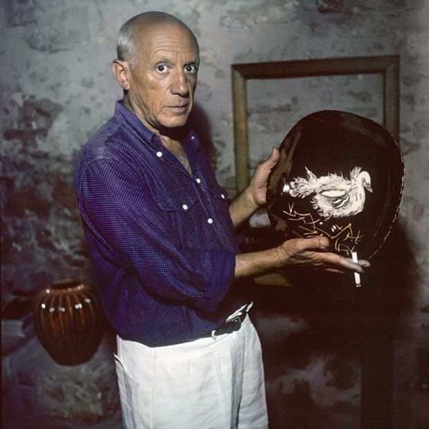 Picasso photographed by Willy Rizzo.
