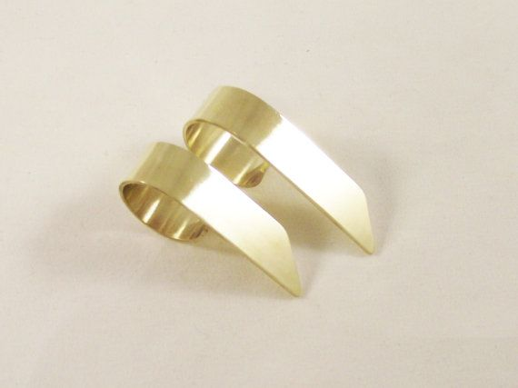 Minimalistic Cuff Rings Gold Knuckle Ring Steel by LakaLuka