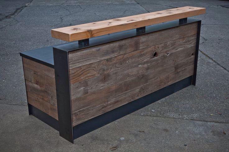 Купить Барная стойка. Стойка ресепшн из массива. - мебель из дерева, мебель ручной работы