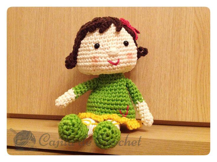 Muñeca Amigurumi cajitadecrochet.com