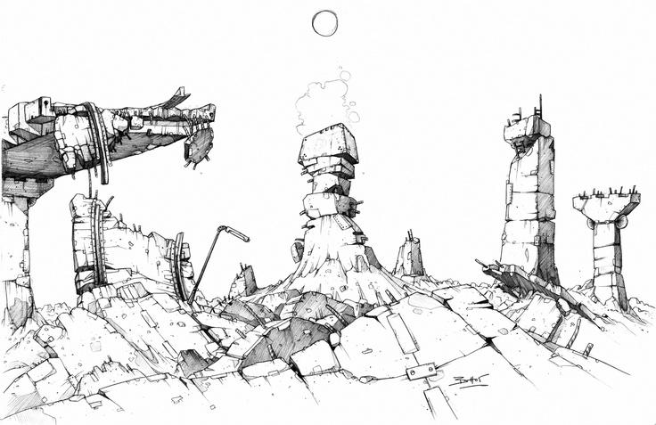 Codehunters / Env. concept by Ben Hibon  © Stateless Productions Ltd.