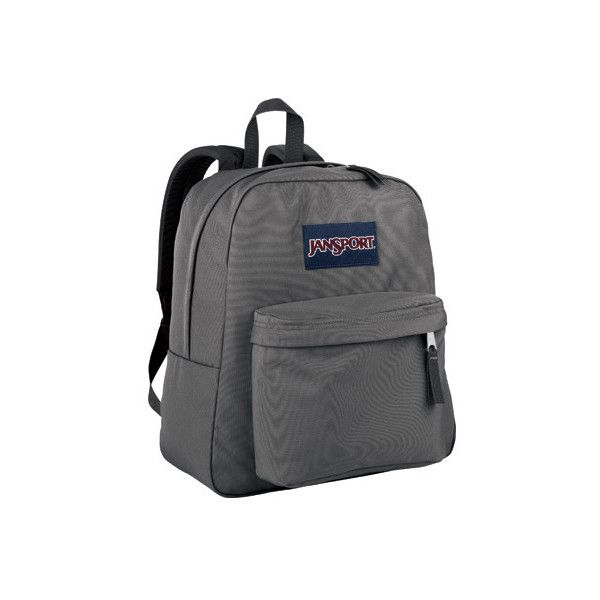 JanSport Spring Break ($30) ❤ liked on Polyvore featuring bags, grey, gray bag, utility bag, jansport rucksack, jansport and knapsack bag
