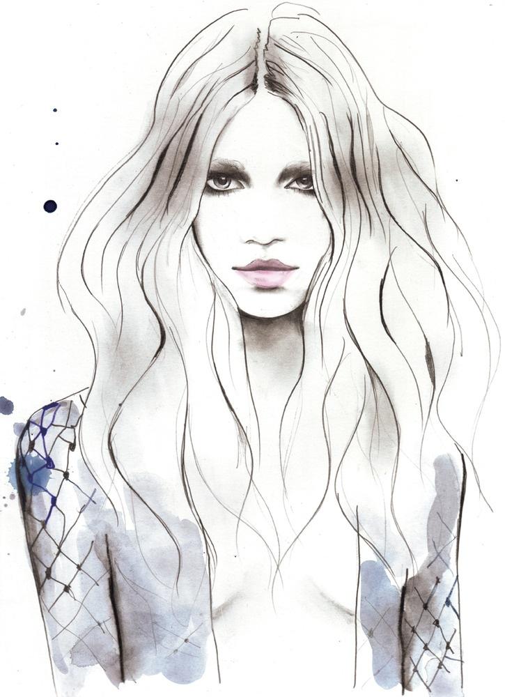 Beautiful watercolour fashion illustration // Sarah Hankinson