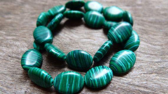 Stylish rich green malachite bracelet  unique by DominiquesWares