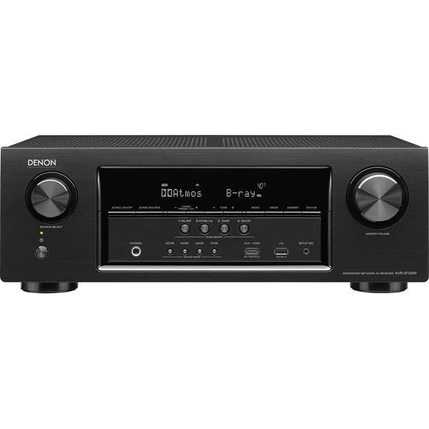 Denon AVR-S720W 7.2 Channel Full 4K Ultra HD AV Receiver with Wi-Fi and Bluetooth, #AVRS720W