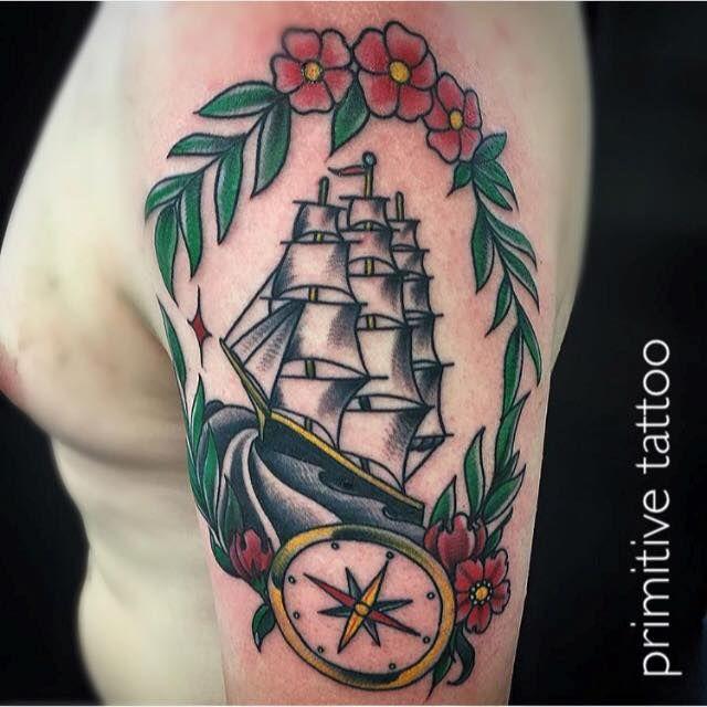 Ship by Mike @ Primitive Tattoo Studio Perth on 126 Barrack street Perth. (08) 9 221 8585 / 0488 828 866 tattoo@primitivetattoo.com www.primitivetattoo.com
