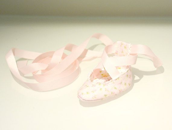 Baby Ballet Shoes  Newborn Ballet Shoes  Baby by PetalleCreations