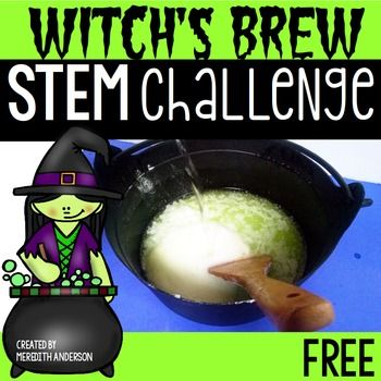 Design a witch's brew potion that bubbles! Students will need to mix various ingredients until they find two that create a chemical reaction to make the potion bubble. This is a very fun activity even your youngest scientists will love! ContentsGetting StartedSuggested Material List (you will need baking soda, vinegar, and various other baking supplies)Teacher NotesPrintable Challenge Poster: Hang at your STEM center or near where the STEM creations are, especially if they will be on…