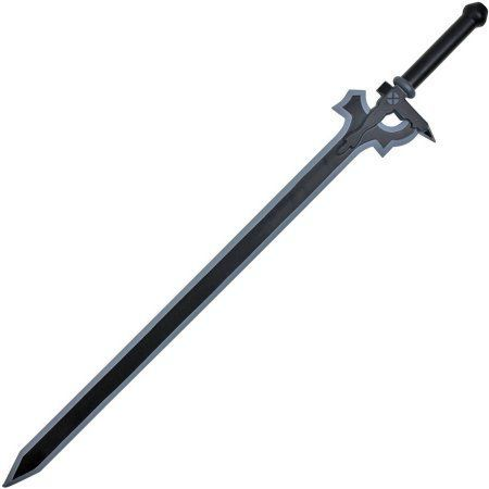 Sword Art Online: Kirito Elucidator Cosplay Foam Replica Sword, Black