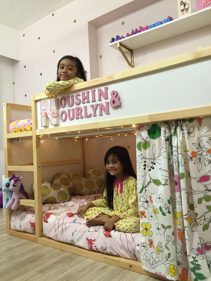 Ikea kura bed in girls bedroom                                                                                                                                                     More